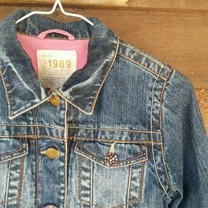 Children's Place denim jacket, embellished buttons